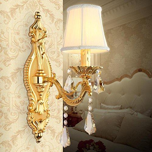 Moderna continentale cristallo semplice Bed nuova lampada da parete camera da letto Studio Corridoio Il corridoio decorazioni lampade , A