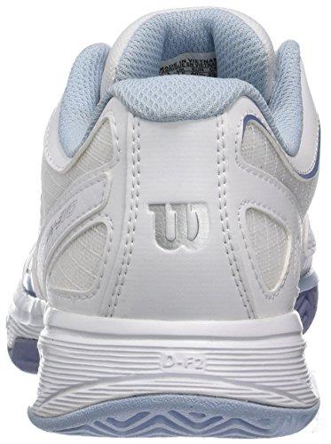 Wilson Rush Evo W WH/Stonewash, Chaussures de Tennis Femme Blanc Cassé (White / White / Stonewash)