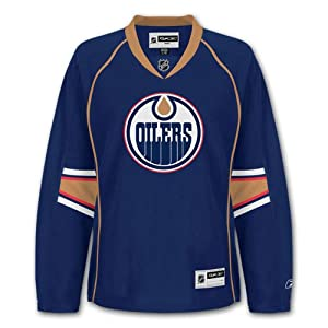 NHL Damen Eishockey Trikot Jersey EDMONTON OILERS Women navy in L (LARGE)