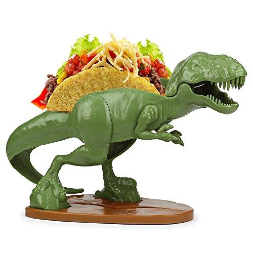 NACHOsaurus Dip- und Snackschalen-Set - Epische Jurrasische Schalen für Chips, Popcorn, Süßigkeiten, Brezeln, Nachos, Salsa, Guacamole und mehr TACOsaurus Rex Standard grün