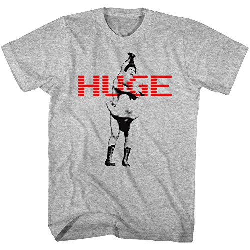 American Classics Andre The Giant Huge Gray Heather Adult T-Shirt Tee