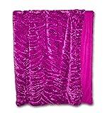 Flauschige Sofadecke Sofia in Webpelzoptik, Pink Wohndecke in Webpelz-Optik (Tierfelldecke Fellimintat Wohndecke Wohnmantel Sofadecke)