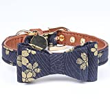 Legendog Cat Collar, Cute Bowtie Floral Cat Collar Buckle Elastic Japanese Kawaii Cat Collar for Boys