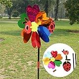 Generic DIY Cute Ladybug Windmill Lawn G...