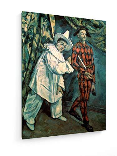 weewado Paul Cezanne - Pierrot e Arlecchino - 1888-30x40 cm - Belle Stampe d'Arte Tela - Arte della Parete - Vecchi Maestri/Museo