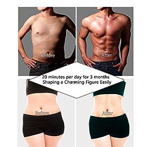 Electroestimulador Abdominales Cinturon, IMATE EMS Muscular Estimulador Pierna Brazo de Abdominales Muscular Entrenamiento Fitness Dispositivo Para Hombres y Mujeres--USB Carica