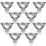 10er Set MR16 Halogen Strahler mit GU5,3 Sockel von parlat (warm-weiß, 12 Volt AC, 50 Watt, Lampe, Leuchtmittel, Haushaltspack, 12V, 50W)