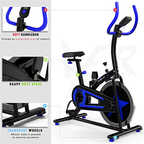 51%2BNDa6gcYL. SS500  - We R Sports Exercise Bike/ Aerobic Indoor Training Cycle Fitness Cardio Workout Home Cycling Machine - 10KG Flywheel