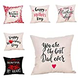 Worlddream Mother's Day Printing Cotton Linen Pillow Case Cushion Cover Sofa Home Decor cojines decoraci n cama cojines #SS 1pcs
