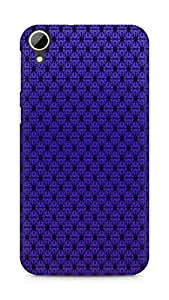 AMEZ Pattern Purple Back Cover For HTC Desire 828