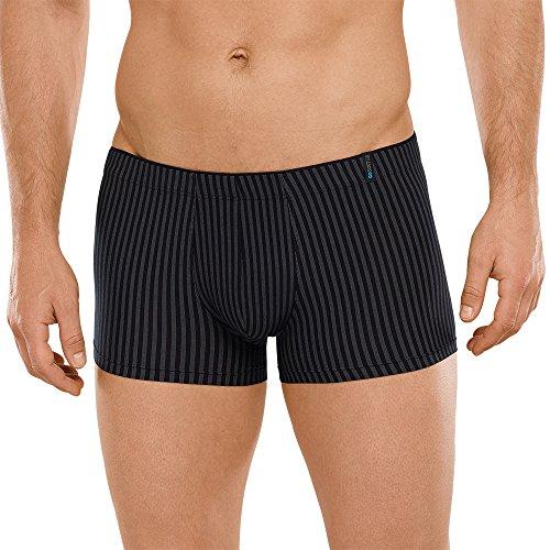 Schiesser Herren Retroshorts Long Life Shorts, Schwarz (blauschwarz 001), Gr. XX-Large (Herstellergröße: 008) (Long-boxer-unterwäsche)