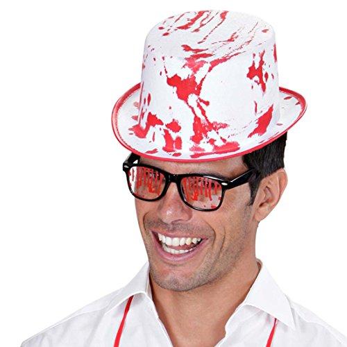 lloween Zylinder Hut Zombie Zylinderhut Horror Halloweenhut Totengräber Bowler Herrenhut Killer Mörder Psycho Verkleidung Kostüm Accessoire (Totengräber Kostüm)