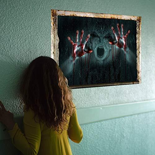 Angst vor Blut Menschen Halloween Dekoration Wandaufkleber Festival Decals Bar Ktv Haunted House Party Room Home Decor