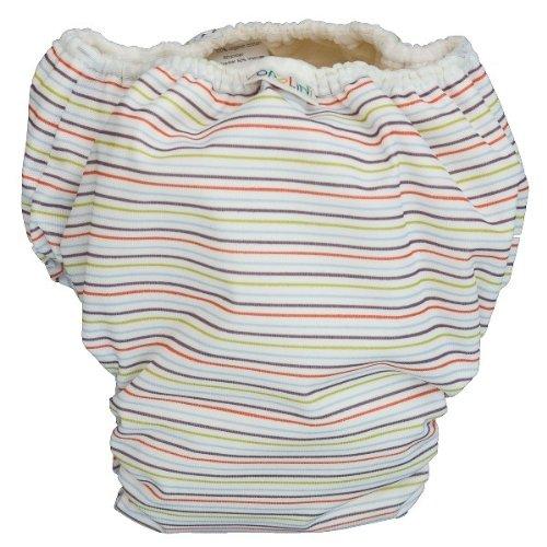 Popolini Trainers waschbare Trainings Windel training pants Streifen bunt Stripes S (9-12 kg bis ca. 2 Jahre) wasserdichte Unterhose zur Sauberkeitserziehung, mit Bio-Baumwolle