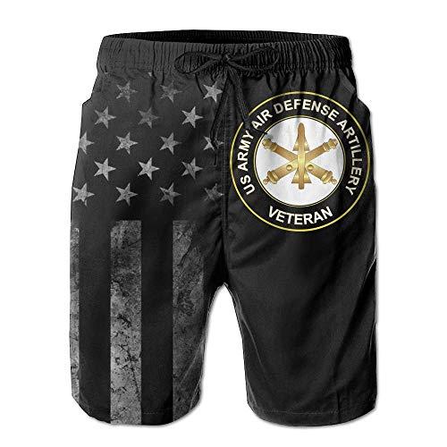 US Army Veteran Air Defense Artillery mit amerikanischer Flagge Badehose für Herren - Badeanzug Athletic Shorts XXL