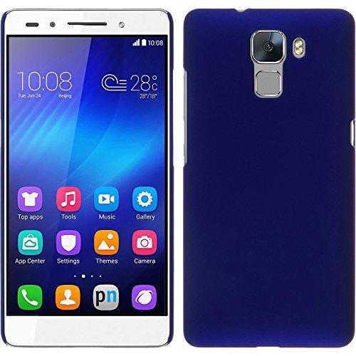 PhoneNatic Case kompatibel mit Huawei Honor 7 - Hülle blau gummiert Hard-case + 2 Schutzfolien 7 Hard Case