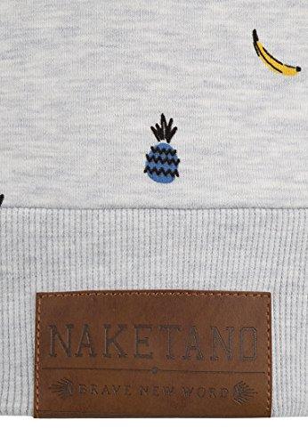 Naketano Female Zipped Jacket Zucchini beste Gurke Amazing Grey Melange
