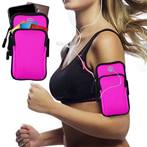 """Armband Armtasche, Rennen Outdoor Armband Handytasche Multifunktionale Doppel Armtasche Armbinde für Handy Bis zu 7,0\"""", iPhone XS MAX X 8 7 6 6S Plus, Galaxy S10 S9 Plus S10E S9 S8 S7 Edge S6"""