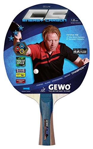 GEWO Erwachsene Schläger CS Energy Carbon konkav/Entwickelt von Christian Süß Tischtennisschläger Grau/Braun