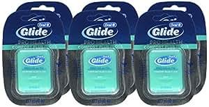 Glide Fil dentaire Floss Comfort Plus - Goût de menthe - 40 mètres - Fil dentaire breveté lisse, robuste et résistant aux déchirures (Lot de 6)