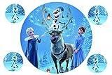 Tortenaufleger Tortenbild Geburtstag Frozen Die Eiskönigin Fondant Ø 20cm / 1234