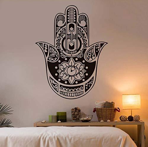 Knncch Indischer Buddha Lotus Hamsa Hand Wandaufkleber Ausgangsdekor Vinyl Kunst Wandbilder Für Kinderzimmer Wohnzimmer Sofa Hintergrund Decals