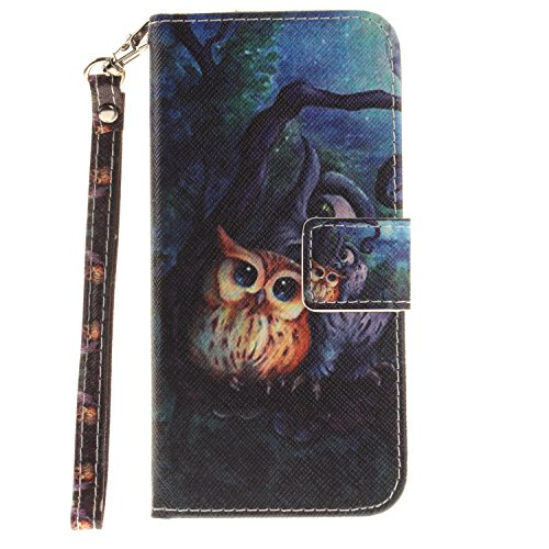 iPhone 6S Plus Hülle,iPhone 6 Plus Case,iPhone 6S Plus Tasche - Felfy Leder Flip Bookstyle Wallet Luxe Handyhülle Niedlich Farbe Muster Premium Slim PU Leather Stand Wallet Flip Lederhülle Case Cover  Strap Eule