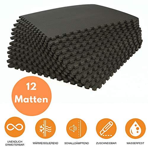 bonsport Bodenschutzmatten 12er-Set - Puzzlematte 40x40cm Bodenmatte - Einfach Zu Montieren Kostüm