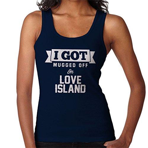 I Got Mugged Off On Love Island Women's Vest Navy blue