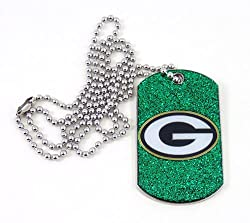 NFL Green Bay Packers Glitter Dog Tag