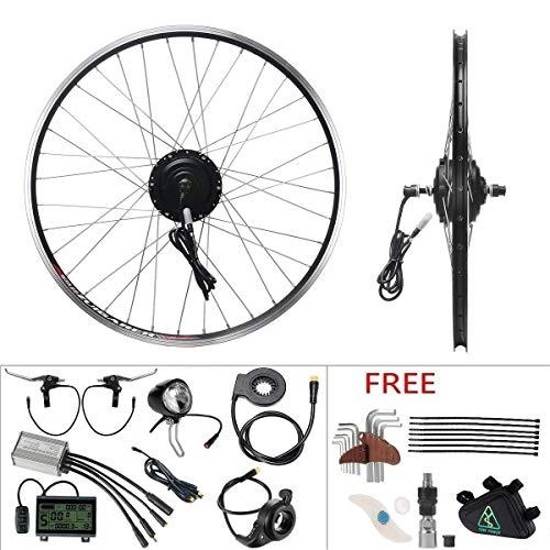 """YOSE POWER E-Bike Conversion Kit Frontwheel 36V250W 26\"""" Zoll Elektrofahrräder Vorderrad Umbausatz mit Frontmotor Schwarz für Pedelec"""