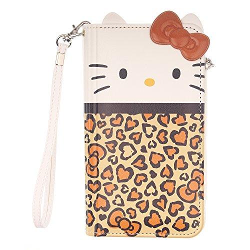 WiLLBee Galaxy S9Plus Case Süße Hello Kitty Tagebuch Wallet Flip Synthetisches Leder/Stoßdämpfung/Trageriemen im lieferumfang [Samsung Galaxy S9Plus] Cover, Wallet Body Brown (Galaxy S9 Plus)