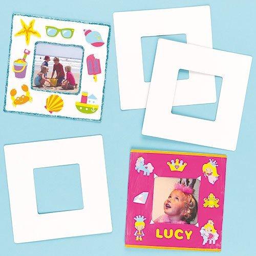 Papp-Bilderrahmen 17cm x 17cm - zum Basteln und Bemalen für Kinder ideal als Geschenk - 10 Stück