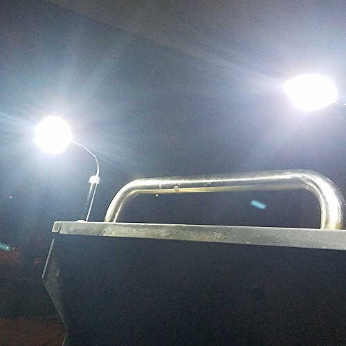 51%2BNMRotkaL - SWNKDG Grill Licht Magnetische LED Grill Lampe 360°Verstellbare BBQ Lampe, Grill Zubehör Grillen Set im Freien(2 Stücke, schwarz)