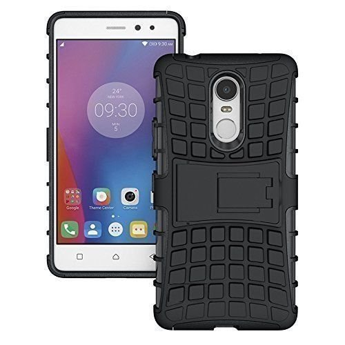 Xiaomi Mi Note 5 Defender Stylish Hard Back Armor Shock Proof Case Cover with Back Stand Feature Black
