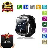 Smart Watch,Bluetooth SmartWatch entriegelt Armbanduhr Handy -1.54 Zoll Rund Touchscreen GSM 2 G Sim Karte Schrittzähle