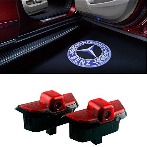 DEFOV Türbeleuchtung Einstiegsleuchte,Autotür Licht 3D Logo (Benz C Blue logo)