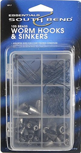 south-bend-value-pak-worm-weights-hooks-6-compartment-fishing-utility-box