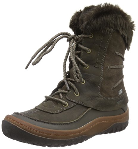Merrell Women's DECORA SONATA WTPF Warm lined slip-on boots half length Grey...