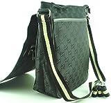 Monogram G Style Messenger Bags / Cross Body Bags (Black -e)