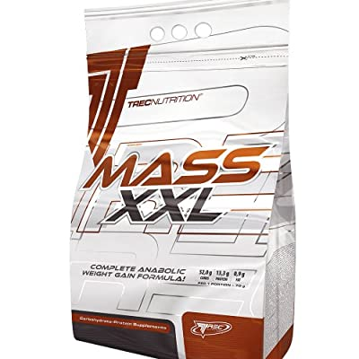 Mass Builder - Mass XXL 4.8kg (chocolate) - Complete Anabolic Weight Gain Formula - Rapid increase of muscle mass - Carbohydrate and whey protein complex (19% protein) with vitamins - Trec Nutrition by MagicSupplements
