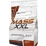 Misa Builder - MASS XXL 1kg - Completa anabólicos aumento de peso Formula - Rápido aumento de la masa muscular - Carbohidratos y complejo de proteína de suero (19% de proteína) con vitaminas - Trec Nutrition (fresa)