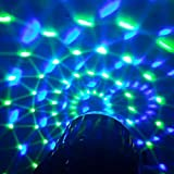 Lixada Bola Discoteca Luces RGB LED Mini Crystal Magic Bola...