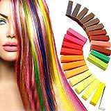 PUPOUSE 36 Farben Ungiftige Haarkreide Haartönung, Kalk Tönung - Weiches Pastell Salon Kit
