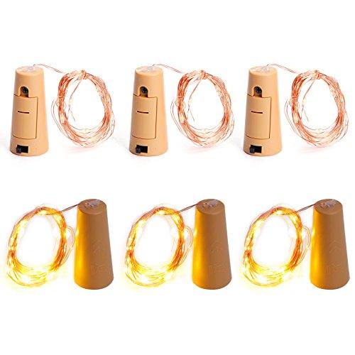 rmweiß Kupferdraht String LED Lichter für Flasche DIY Party Deko Weihnachten Stimmung Lichter (Ideen Für Diy Halloween-dekorationen)