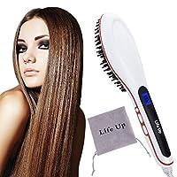 Materiale: Plastica Colore : Bianco Stile : Pettine Lisciante Design: Display LCD Caratteristica: E' il più veloce lisciatore per capelli Dimensioni articolo : 27 x 4.2cm/ 10.5 x 1.6 inch (L x W)  Pennello Ovale: 13 x 7.2cm/ 5.1 x 2.8 inch (L...