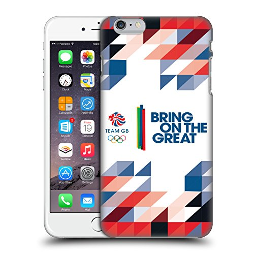 Official Team GB British Olympic Association Union Jack Bring On The Great Hard Back Case for Apple iPhone X Geometric