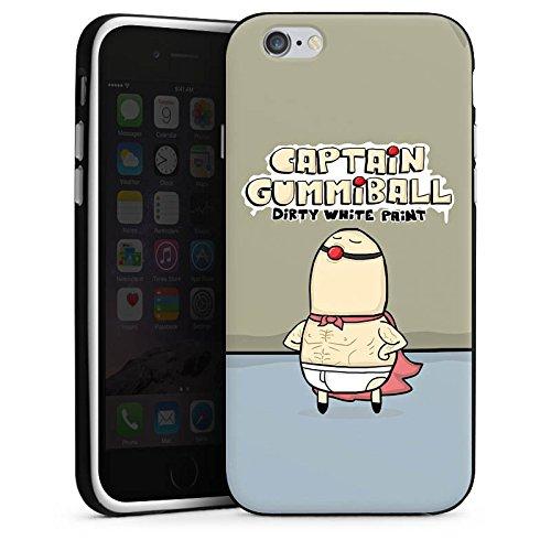 Apple iPhone X Silikon Hülle Case Schutzhülle DirtyWhitePaint Fanartikel Merchandise Captain Gummiball Silikon Case schwarz / weiß