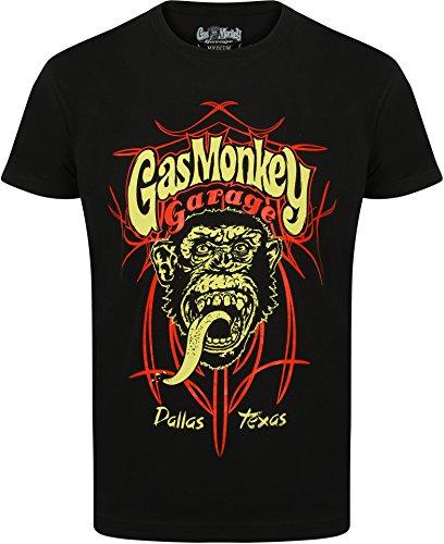 gas-monkey-garage-t-shirt-pinstripe-ii-noir-xl-connu-dapres-fast-n-loud