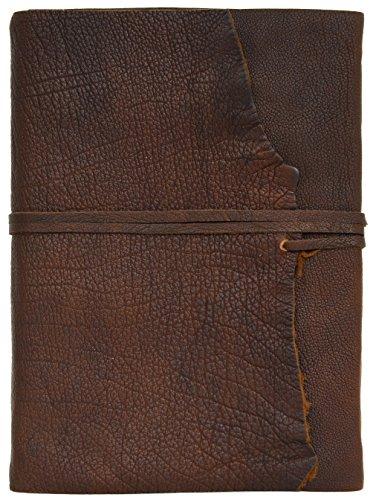 Gusti Leder studio ''Violetta'' libro di pelle agenda diario DIN A4 per foto appunti Università Ufficio marrone scuro 2P4-24-2